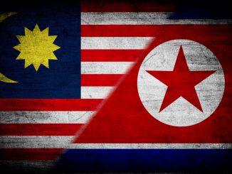 Bendera Malaysia dan Korea Utara